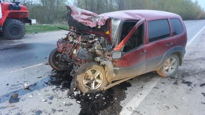 Ремень не помог: в Самарской области KIA влетела в Chevrolet