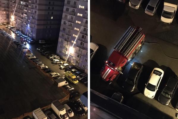 Ночью в многоэтажке горел лифт, дым окутал два подъезда