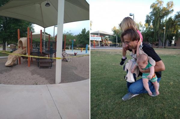 Раньше дети играли на площадке, которая сейчас закрыта лентами