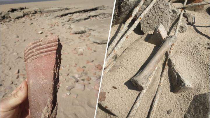 После сброса воды Обское море оголило бывшее поселение Старого Бердска
