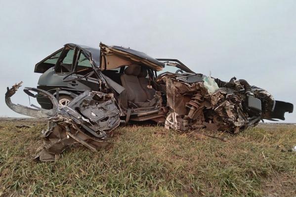 В этой аварии травмы получили двое пассажиров, в том числе двухлетний мальчик