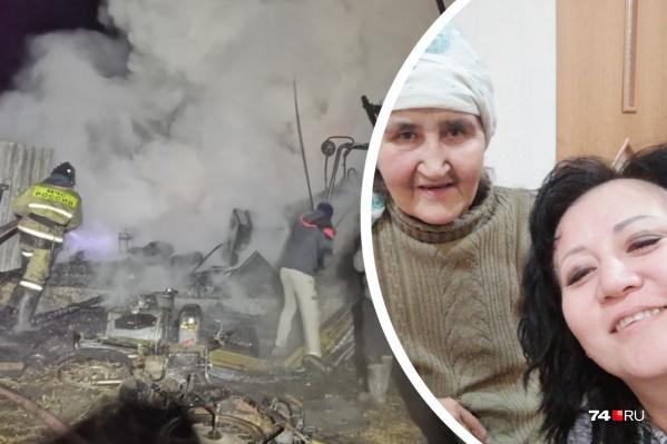 Это фото с мамой Айгуль сделала летом, когда ездила ее навещать в доме милосердия