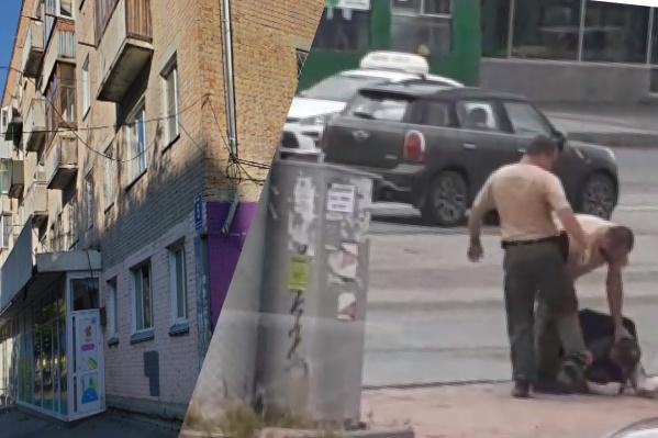 На видео два сотрудника ЧОПа и неизвестный в гражданской одежде избивают мужчину