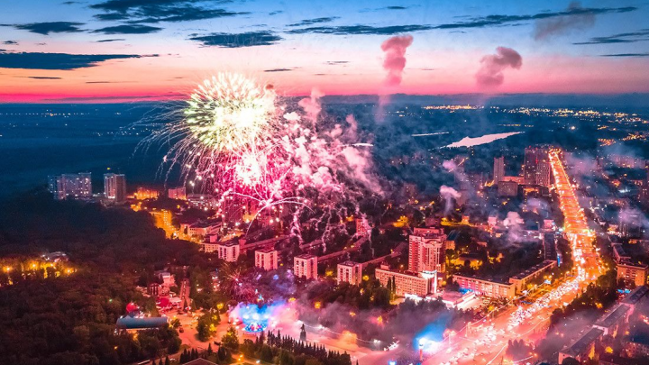 В Уфе состоялся праздничный салют в честь присвоения городу особого статуса. Вот как это было