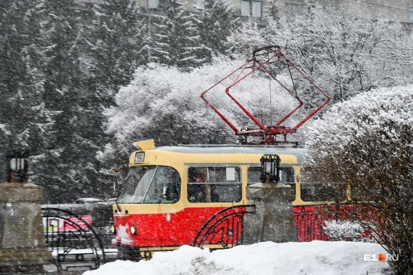 В этом году зима в Екатеринбурге выдалась с морозами и оттепелями