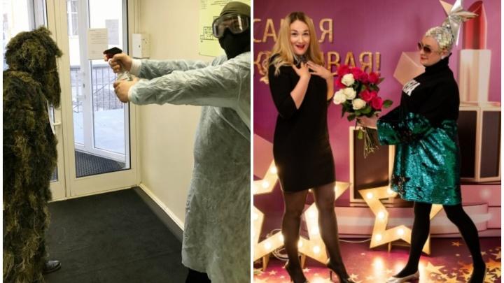 Верка Сердючка дарила цветы, в офисе бил шоколадный фонтан: выбираем лучшее поздравление с 8 Марта