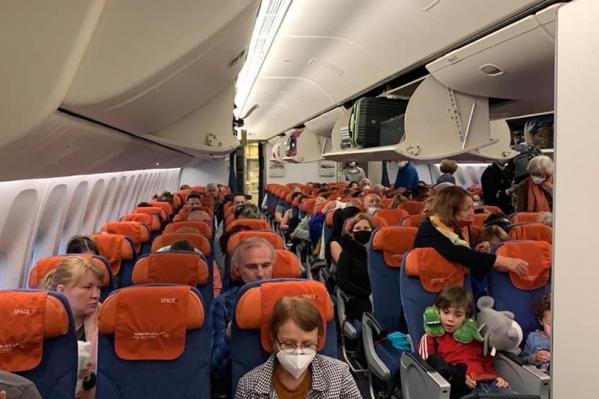 На борту вывозного рейса — 379 человек, в том числе 21 житель Челябинской области