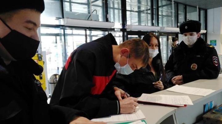 За неделю в Красноярске оштрафовали почти 2 тысячи человек без масок