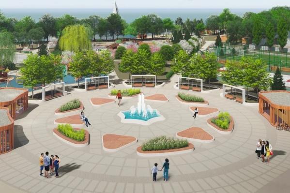 Такой парк у дома появится в новом квартале на берегу Нижне-Исетского пруда