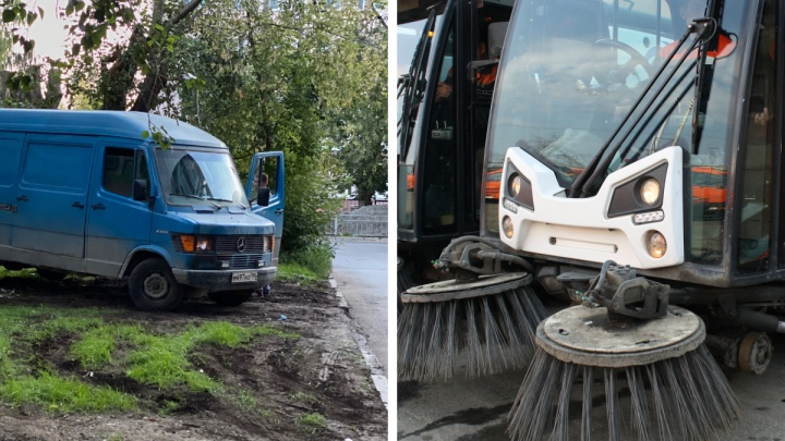 «Я паркуюсь как...»: бороться с гряземесами в Екатеринбурге тяжело из-за уборочных машин