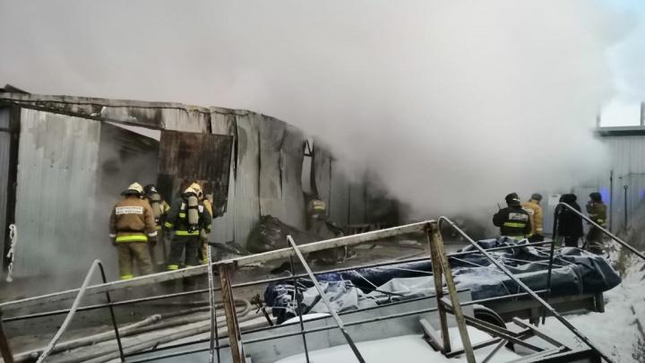Очень большой пожар: в Тольятти выгорела мебельная фабрика