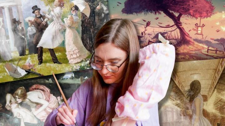 Челябинка с аппаратом Илизарова рисует и продаёт картины, чтобы заработать на лечение после ДТП