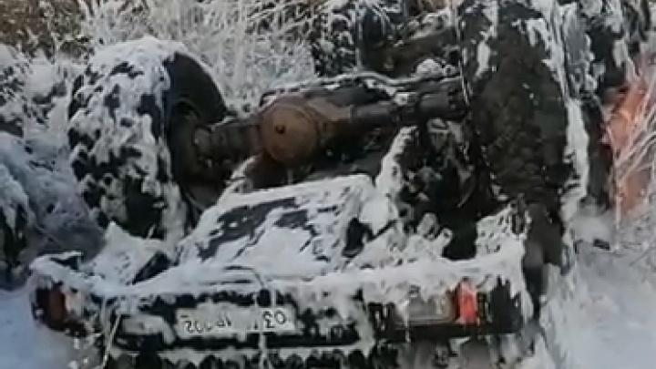 В Башкирии перевернулась автоцистерна, водитель погиб на месте аварии