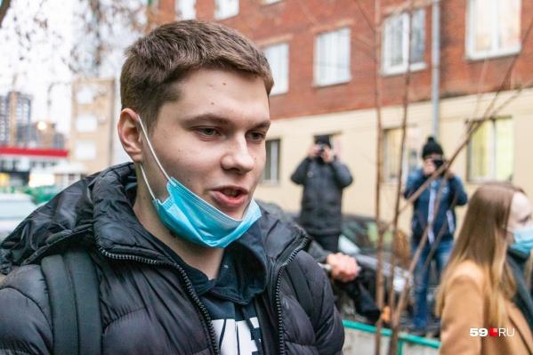 Александр Шабарчин в день освобождения из СИЗО-1