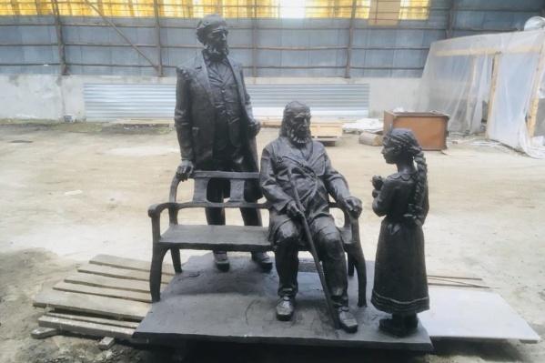 Памятник уже отлит в бронзе