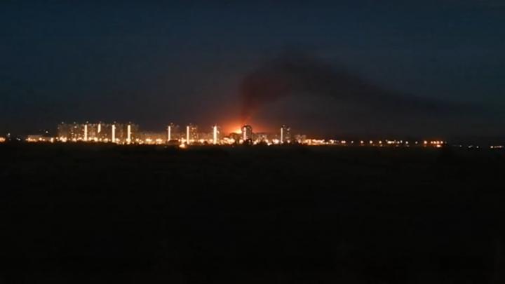 Появилось видео с места утечки газа под Самарой