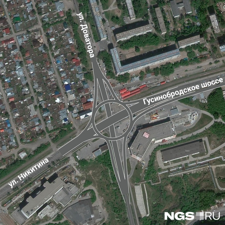 Пересечение Доватора и Гусинобродского шоссе