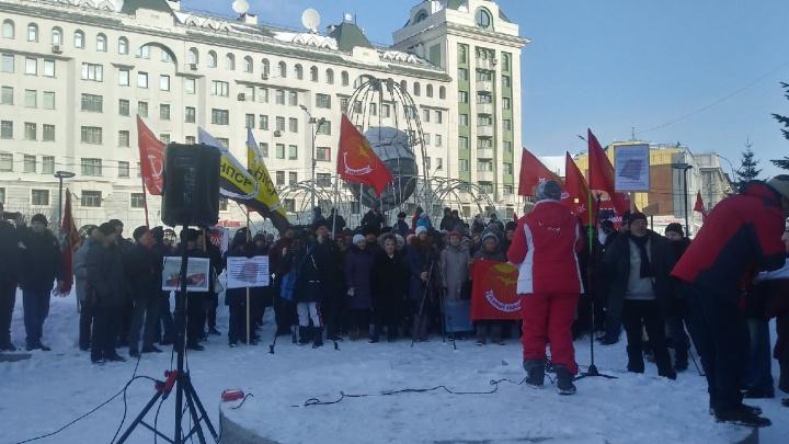 Новосибирцы снова вышли на митинг из-за поправок в Конституцию