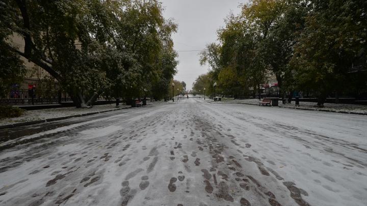 Синоптики пообещали Екатеринбургу пасмурную погоду и мокрый снег