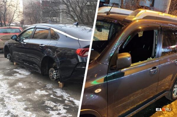 От рук злоумышленников пострадали по меньшей мере шесть автовладельцев