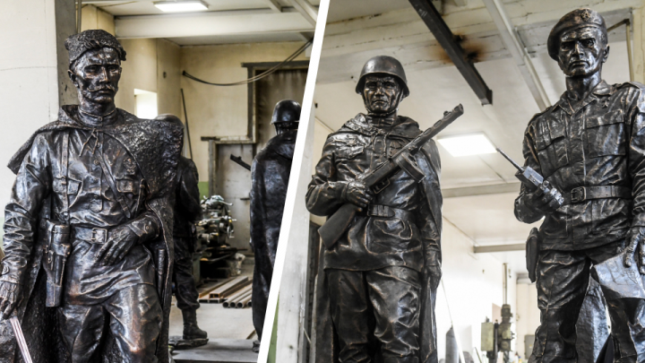 В Екатеринбурге установят бронзовый памятник с Чапаевым и солдатами за 14 миллионов рублей
