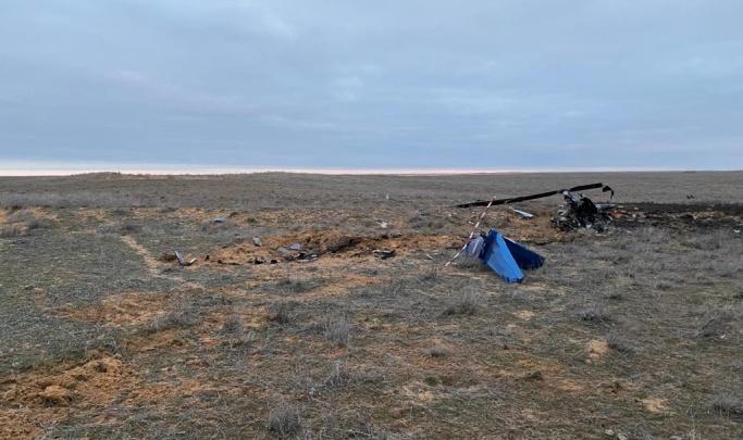 Разбившийся в Астраханской области вертолет вылетел с базы без разрешения