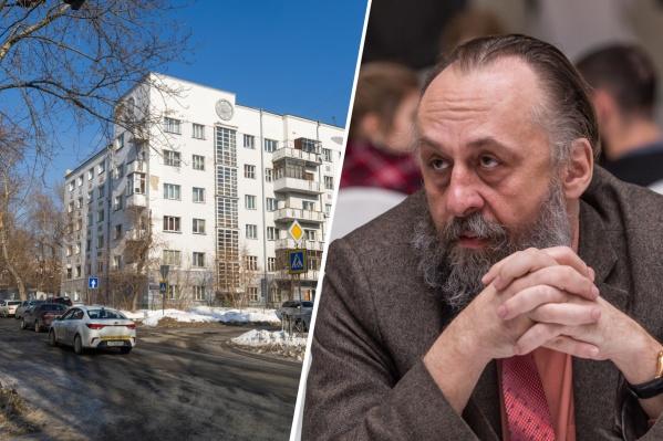 Главный архитектор Новосибирска жалеет о том, что рядом с домом «Союззолото» снесли четырехэтажное здание-памятник