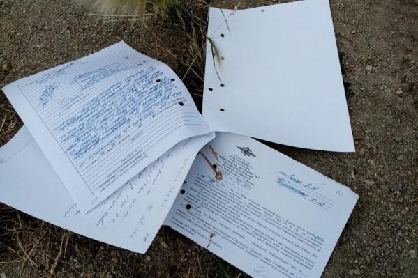 Документы нашли челябинские садоводы на дороге
