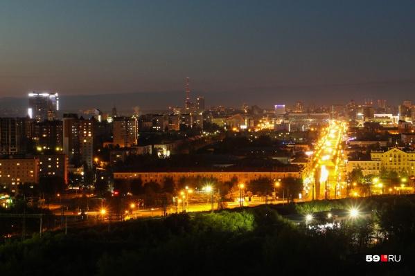 Из окон поезда можно будет любоваться видами ночной Перми