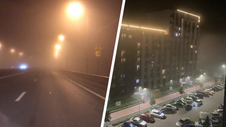 «Запах гари очень сильный»: Екатеринбург накрыла дымка
