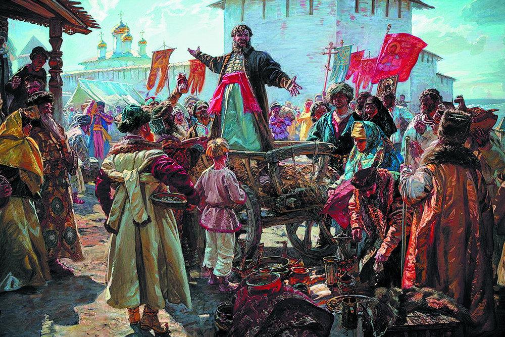 Мотив воззвания Минина к нижегородцам вдохновлял многих художников