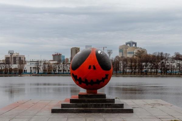 Один из шариков стал похож на главного героя мультика«Кошмар перед Рождеством»