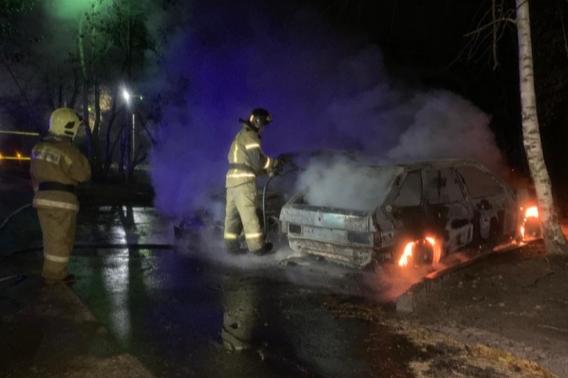 Пиромана, который поджег автомобили на Юго-Западе, нашли в кустах