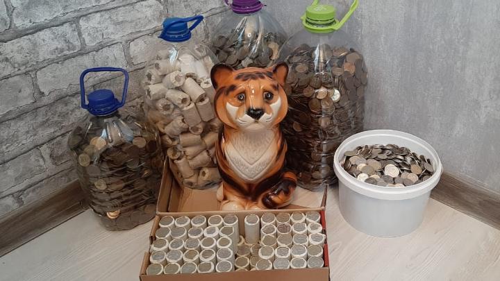 «Коплю на ипотеку»: екатеринбуржцы нашли дома тонны мелочи после новости о сборе монет