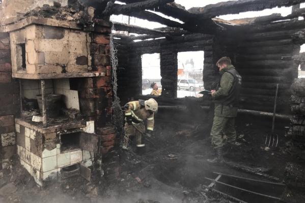 Специалисты также установили предварительный очаг возгорания