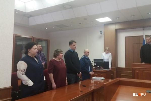 Родители Андрея (в центре) на заседании апелляционной инстанции