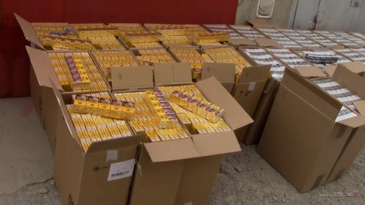 Под Волгоградом нашли 166 тысяч пачек контрафактных сигарет на 7 миллионов рублей