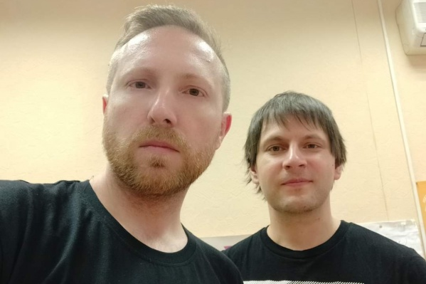 Алексей Назаров и Алексей Сергеев на освидетельствовании