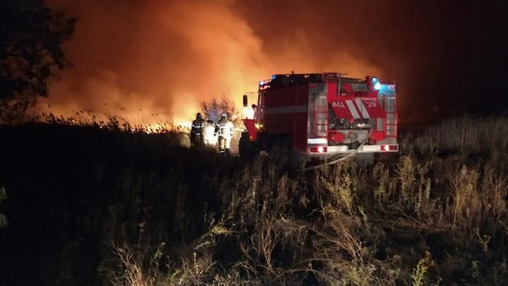 МЧС: площадь пожара в Аксайском районе выросла до 100 га