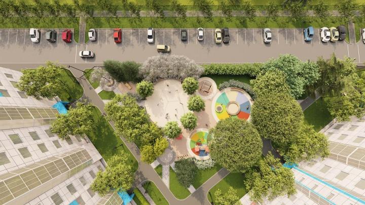 В Кировском районе строят ЖК — во дворе будет отдельный выгул для собак, столы для шахмат и много зелени