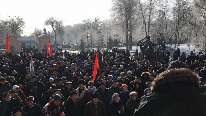 В Самаре прошел митинг против мусорной реформы