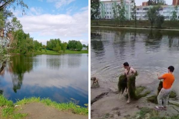 Спасатели достали мужчину из воды с помощью троса