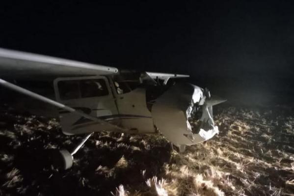От удара у судна пострадала носовая часть
