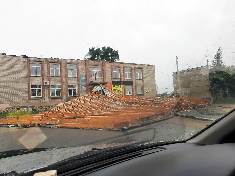 В Марусино слетела крыша