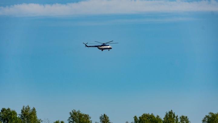 На поиски пропавшей в Муромцевском районе женщины отправили вертолёт Росгвардии