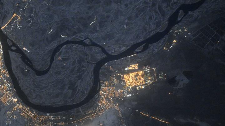 Ночной Волгоград вновь показали с околоземной орбиты