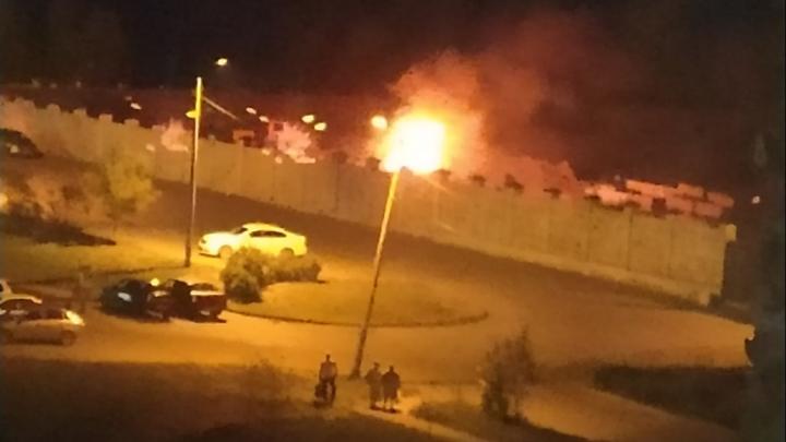В Челябинске вспыхнул пожар на территории храма