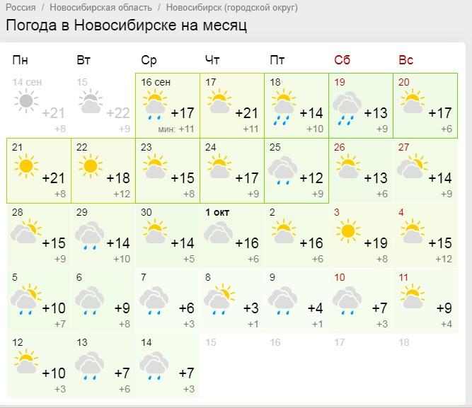 СейчасGismeteo.ru показывает только первые две недели октября — они будут дождливыми