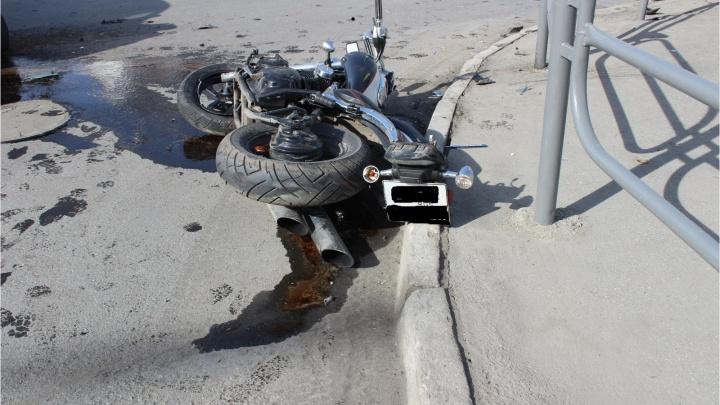 В Кургане за сутки два мотоциклиста попали в ДТП