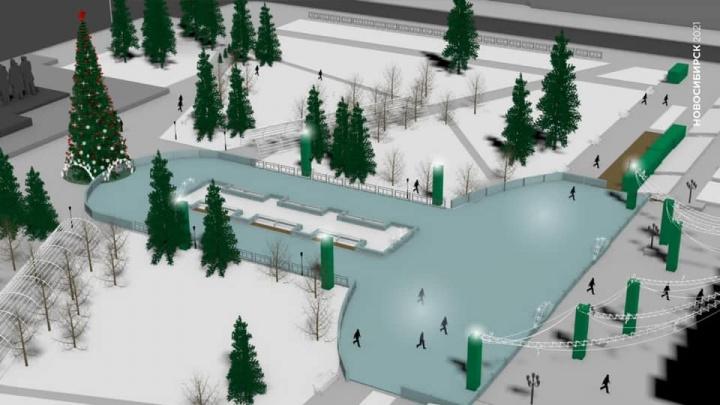 Мэрия Новосибирска представила новый проект скандального катка на площади Ленина — посмотрите, каким он будет